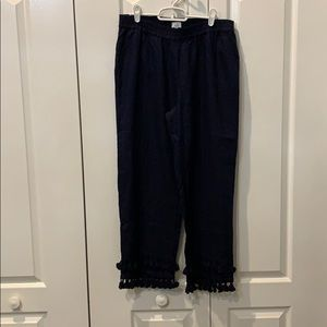 Crown & Ivy Navy tassel tier Pants
